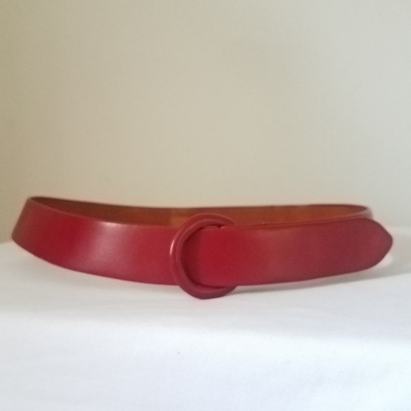 e5ba3cbfc0 Lord & Taylor Accessories | Vintage Belt Red Leather Burkes For Lord ...